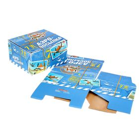 """Коробка подарочная складная """"Аэропосылка"""", Самолеты, 19 х 16 х 10 см"""
