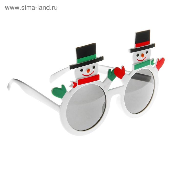 """Карнавальные очки """"Снеговик"""""""