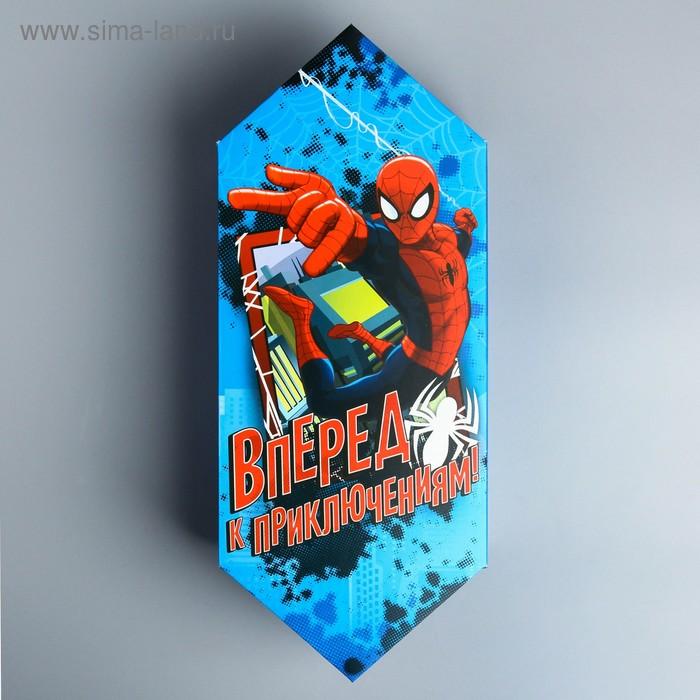 """Сборная коробка-конфета """"Вперед к приключениям!"""", 14 х 22 см"""
