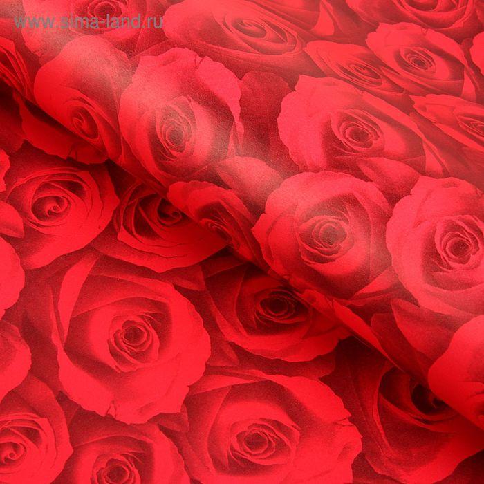 """Бумага упаковочная """"Красные розы"""""""