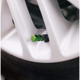 Колпачки на вентиль TORSO, зелёные, набор 4 шт