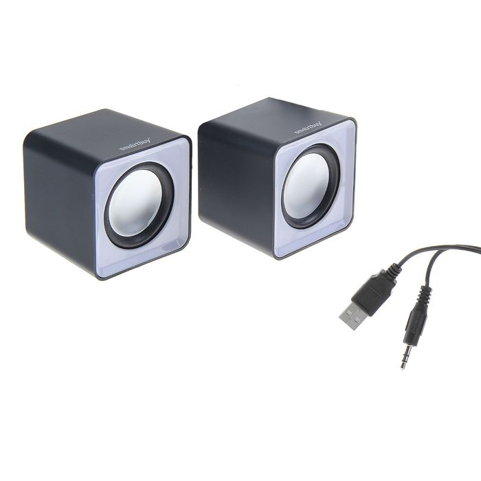 Акустическая система 2.0 SmartBuy MINI SBA-2810, 2х2.5Вт, USB, серые
