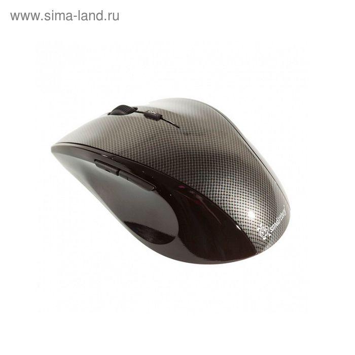 Мышь Smartbuy 601AG, оптическая, беспроводная, 1000/1500/2000 dpi, до 10м, USB, серый карбон