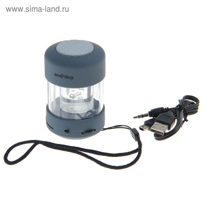Портативная колонка SmartBuy CANDY PUNK, MP3-плеер, FM-радио, 2.2 Вт, серая