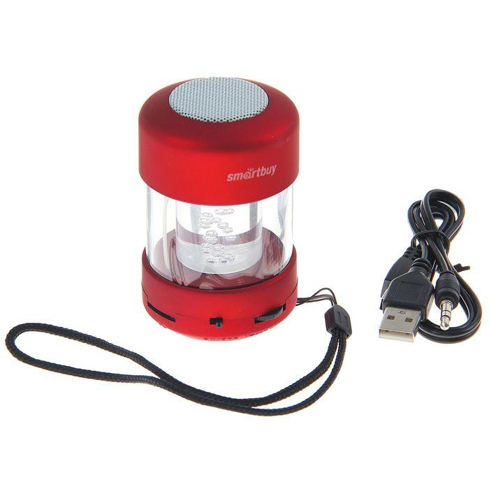 Портативная колонка SmartBuy CANDY PUNK, MP3-плеер, FM-радио, 2.2 Вт, красная