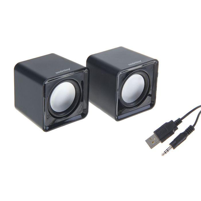 Акустическая система 2.0 SmartBuy MINI SBA-2800, 2х2.5Вт, USB, черные