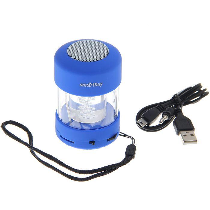 Портативная колонка SmartBuy CANDY PUNK, MP3-плеер, FM-радио, 2.2 Вт, синяя