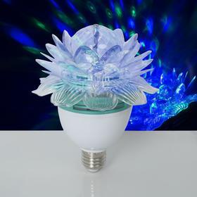 Лампа-проектор'Хрустальный Цветок', d=12,5 см. эффект зеркального шара Е27, V220 RGB Ош