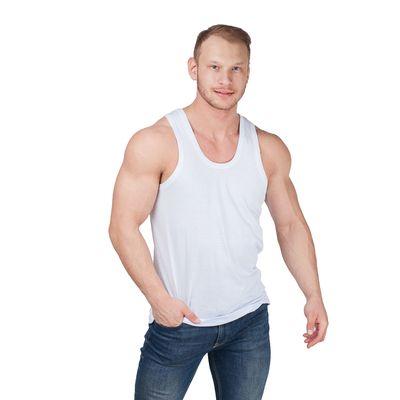 Майка мужская, размер 52, цвет белый