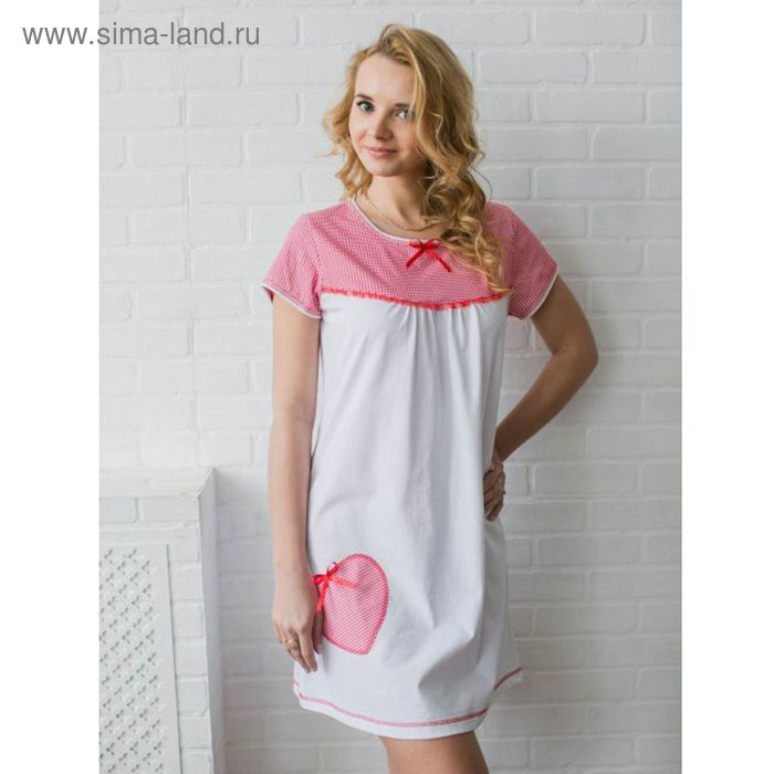 Сорочка женская Сердце МИКС, р-р 50