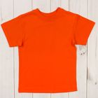 Футболка детская, рост 98 см, цвет оранжевый Н004