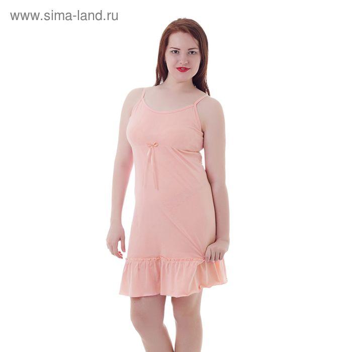Сорочка женская на лямках А336 персик, р-р 46 (M)