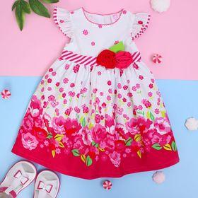 """Платье для девочки """"Лето"""", рост 74-80 см (1 год), цвет розовый"""