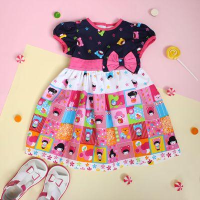 """Платье для девочки """"Весёлые человечки"""", рост 74-80 см (1 год)"""