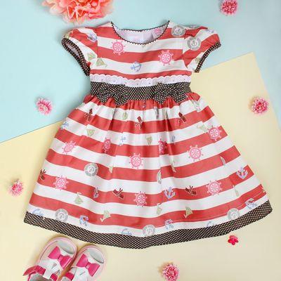 """Платье для девочки """"Якорёк"""", рост 80-86 см (1,5 года), цвет коричневый"""