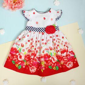 """Платье для девочки """"Лето"""", рост 92-98 см (2 года), цвет красный"""