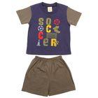 Костюм для мальчика (футболка +шорты), рост 104-110 см (3-4 года), цвет тёмно-синий B173