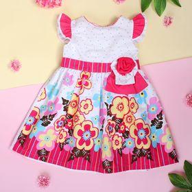 """Платье для девочки """"Незабудка"""", рост 80-86 см (1,5 года), цвет розовый"""