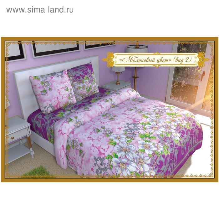 """Постельное бельё Этель """"Яблоневый цвет (вид 2)"""" евро, размер 200х217 см, 220х240 см, 70х70 см - 2 шт."""