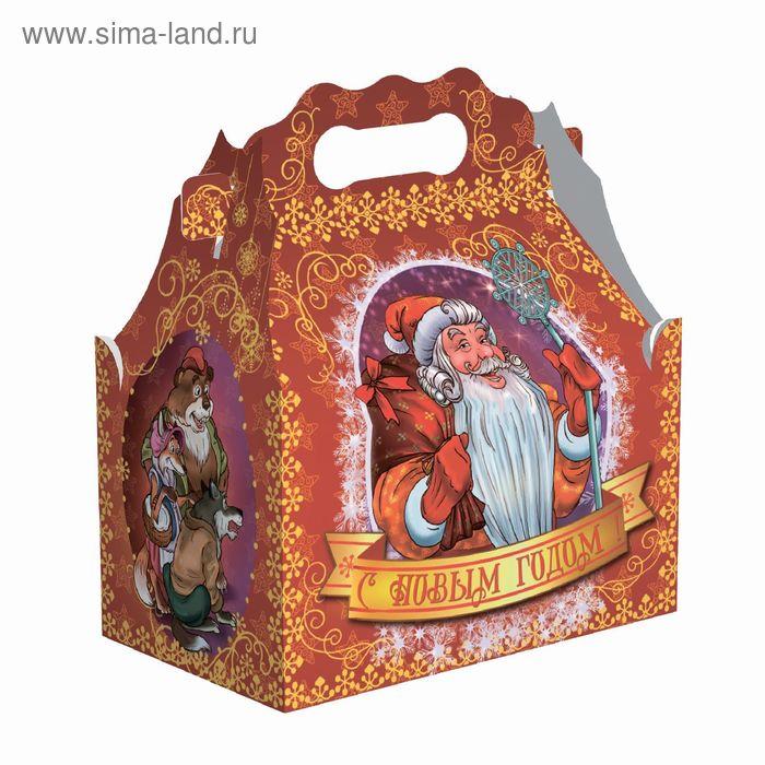 """Подарочная коробка """"Мороз-красный нос"""" ларец, сборная, 12.3х20.5х22 см"""