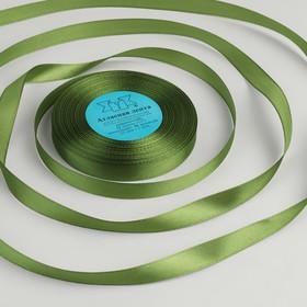 Лента атласная, 12мм, 33±2м, №085, цвет серо-зелёный