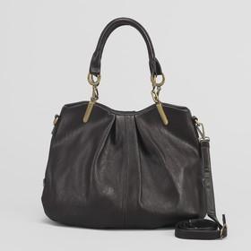 Сумка женская на молнии, 1 отдел. 1 наружный карман, коричневая Ош