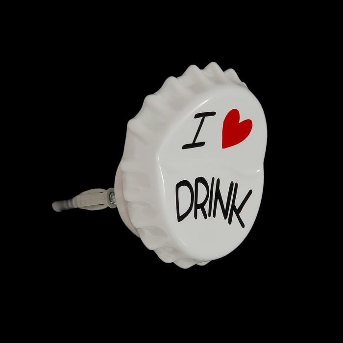 Вешалка-пробка белая I love drink