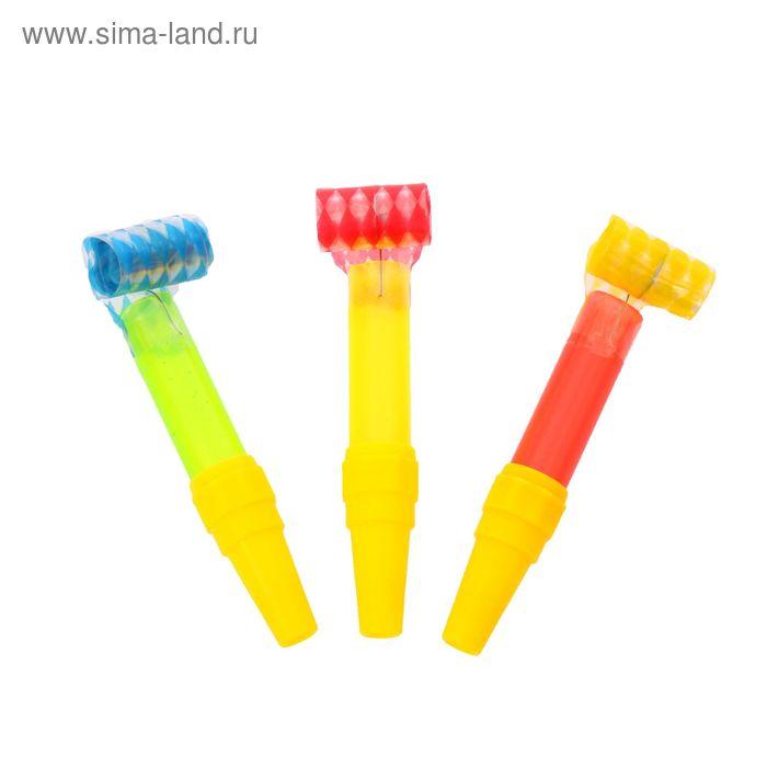 """Карнавальный язычок """"Цветной"""" (набор 3 штуки), цвета МИКС"""