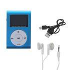 Цифровой MP3-аудиоплеер Perfeo Music Clip Titanium Display, голубой