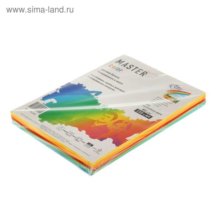 Бумага цветная А4, 250 листов Mix Intensive, ассорти 5 цветов по 50 листов, 80г/м