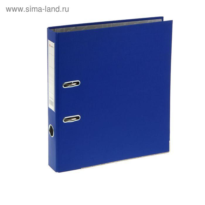 Папка-регистратор А4, 50мм Lamark ПВХ синий, металлическая окантовка, карман, разобрный