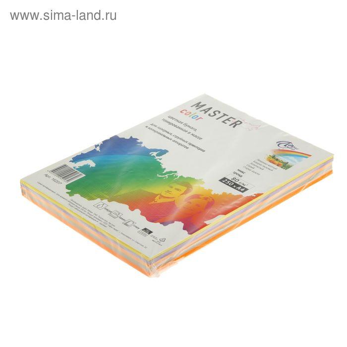 Бумага цветная А4, 250 листов Mix Trend, ассорти 5 цветов по 50 листов, 80г/м