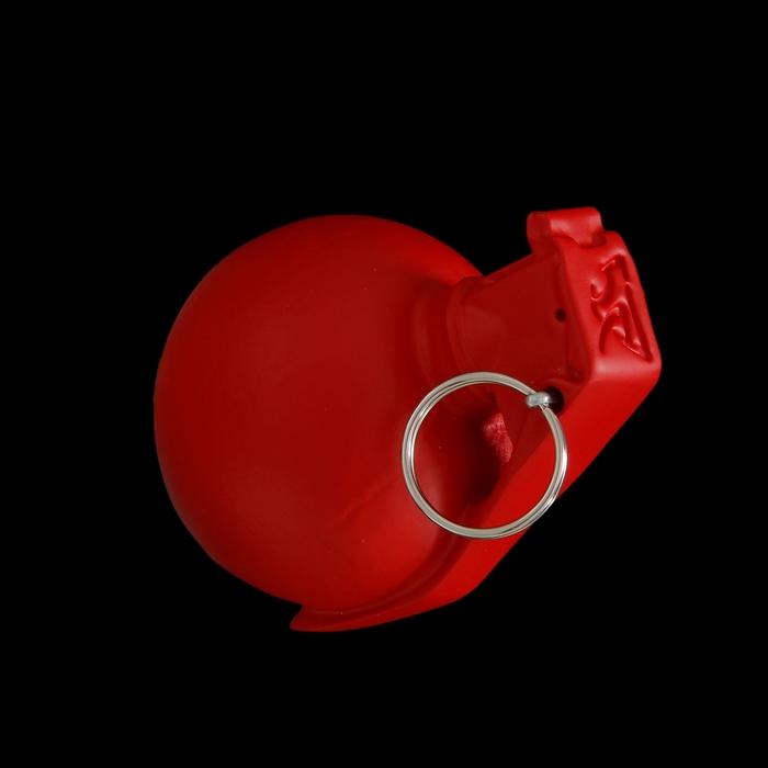 Вешалка-лимонка красная