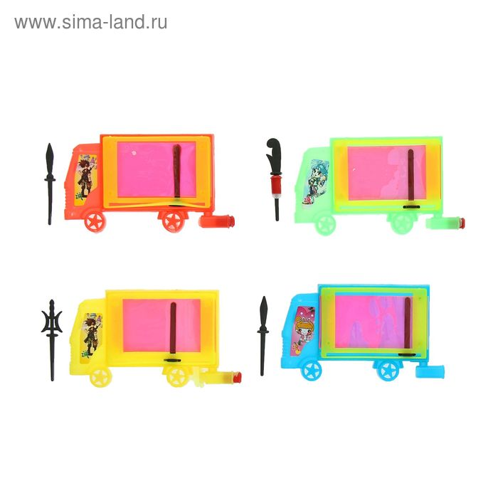 """Мини - доска для рисования """"Машина"""", цвета МИКС"""