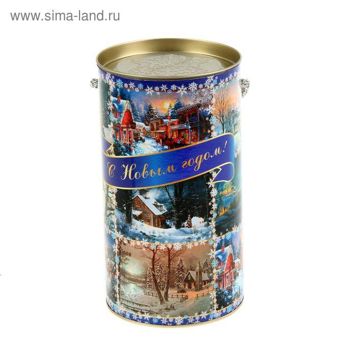 """Подарочная коробка, тубус """"Новогодние миниатюры"""" 12х22 см"""