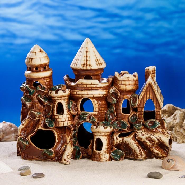 """Декорации для аквариума """"Замок с шестью башнями"""""""