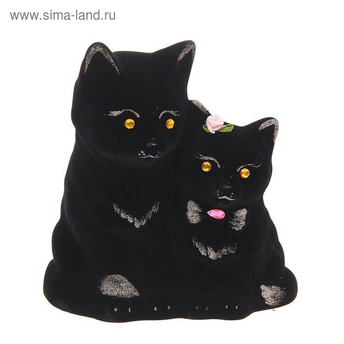"""Копилка """"Котики"""" флок, чёрная"""