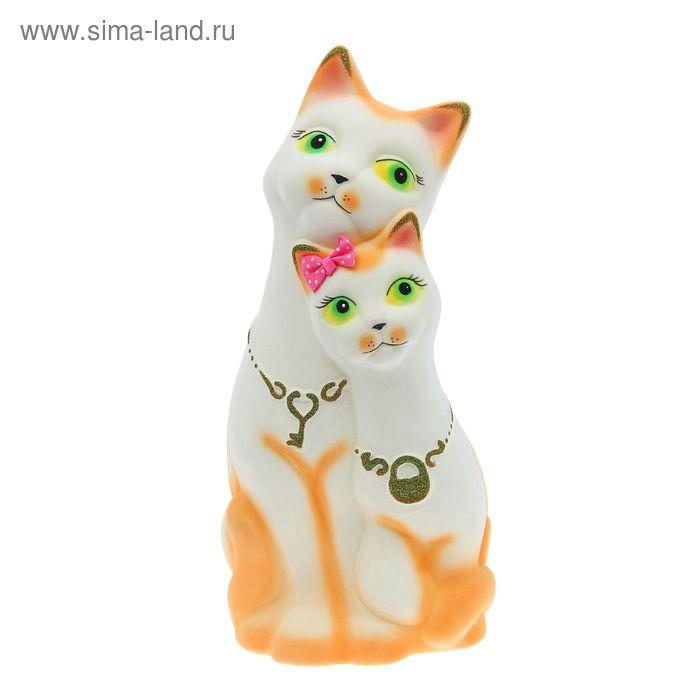 """Копилка """"Коты"""" флок, белая"""