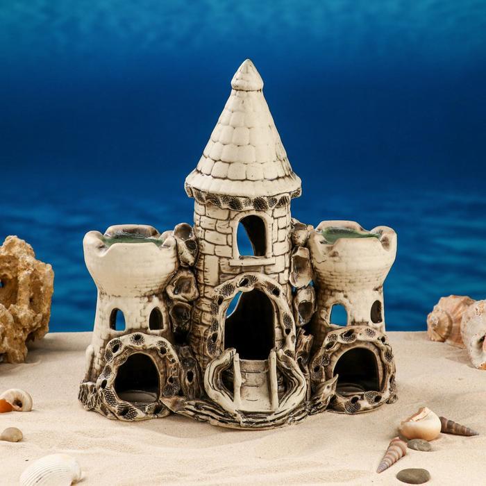 """Декорации для аквариума """"Замок тройной"""""""