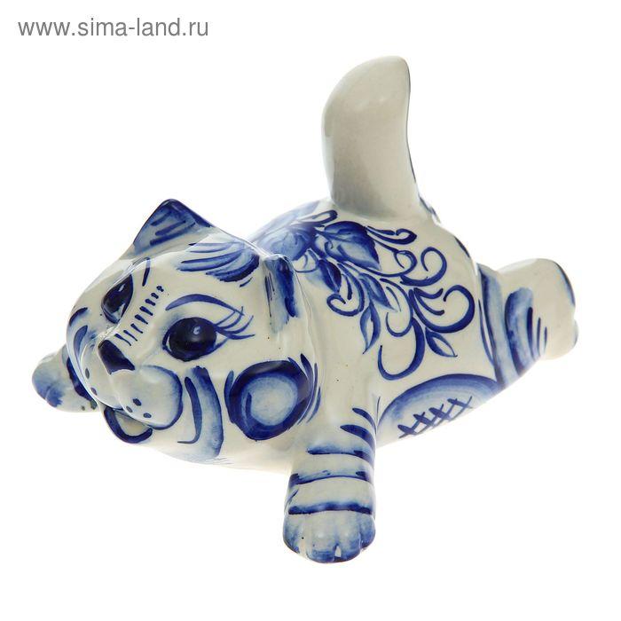 """Сувенир """"Кошка Тимоша"""" гжель"""