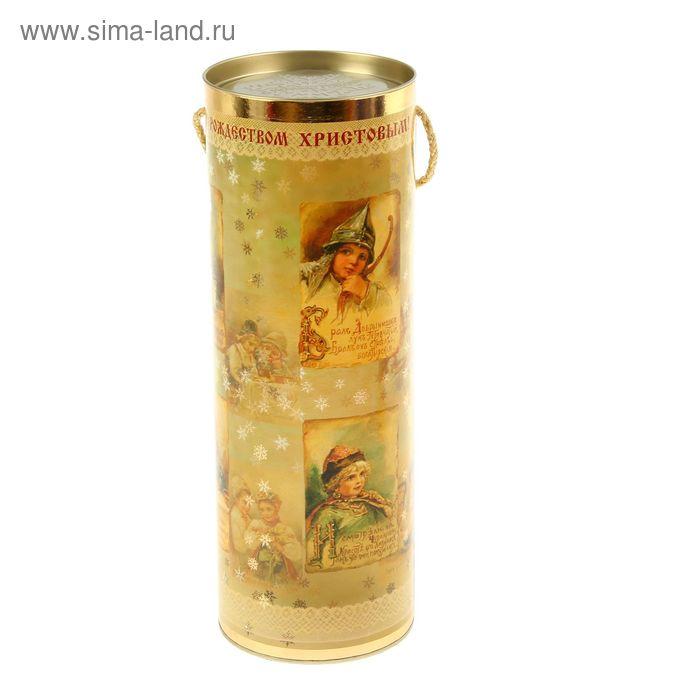 """Подарочная коробка, тубус """"Рождество"""" 12х34.5 см"""