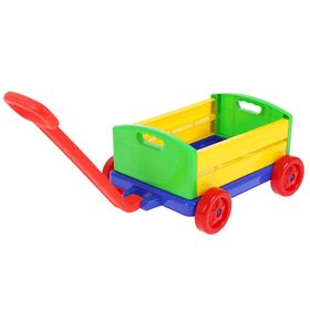 "Каталка-конструктор ""Тележка для игрушек"", 10 предметов"