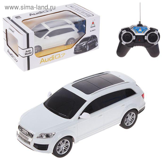Машина радиоуправляемая Audi Q7, работает от батареек, масштаб 1:24, световые эффекты, цвета МИКС