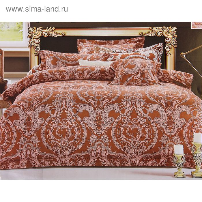 "Постельное бельё Этель Ажур ""Шоколадный сон"" евро, размер 200х220 см, 220х240 см, 50х70 +/- 3 см - 2 шт."