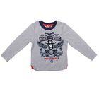 """Джемпер для мальчика """"Маленький байкер"""", рост 110 см (56), цвет серый ПДД139070"""