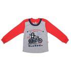 """Джемпер для мальчика """"Маленький байкер"""", рост 104 см (54), цвет серый/красный ПДД140070"""