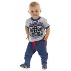 """Брюки для мальчика """"Маленький байкер"""", рост 74 см (48), цвет синий (арт. ЮББ648258_М)"""