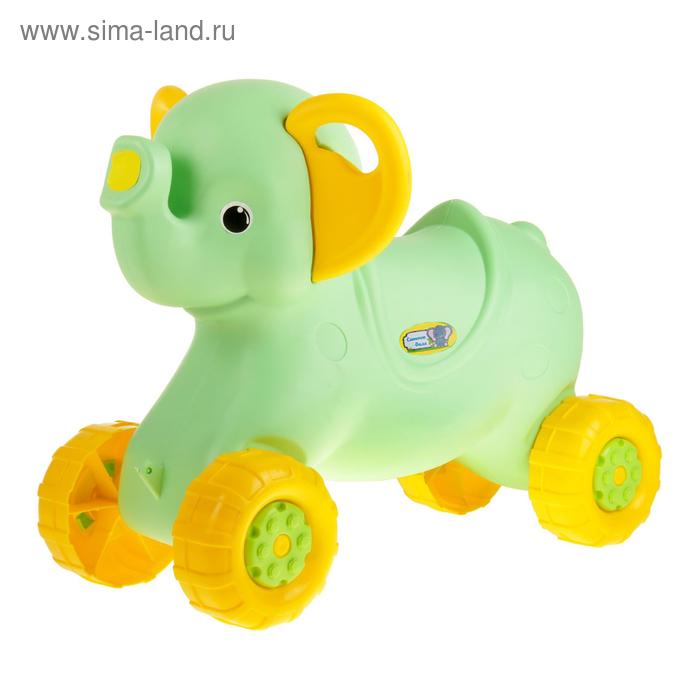 """Каталка детская """"Слонёнок"""" цвет: салатовый М4936"""
