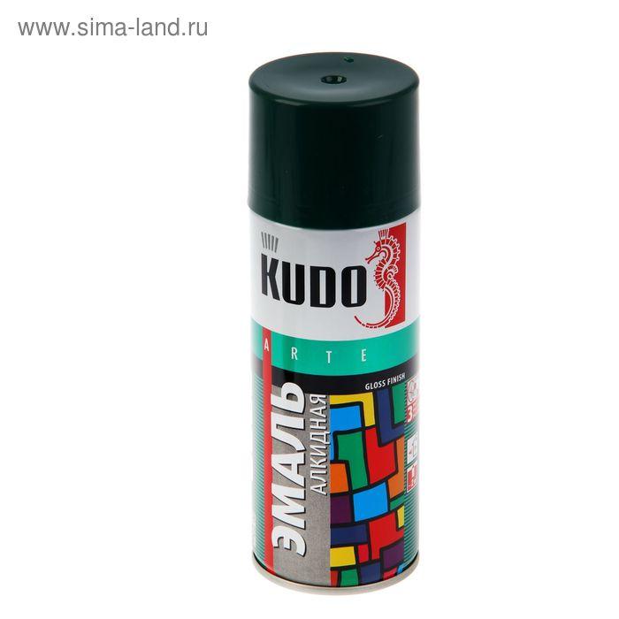 Эмаль алкидная универсальная Kudo темно-зеленая, 0,52л