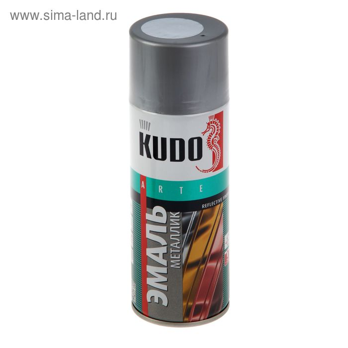 Эмаль металлик универсальная Kudo хром, 0,52л